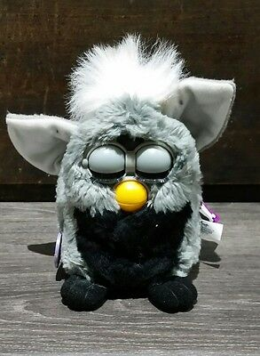 1998 FURBY Talking Toy Grey with white ears Model 70-800