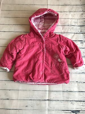 Baby Girls Clothes 0-3  Months - Pretty  Cord M&S  Coat  Jacket