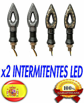 X2 Intermitentes Led Para Moto Fibra De Carbono 12 Led