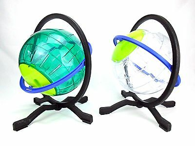 "Hamster, Exercise Running Gyro Play Ball 7"" Dia on a Stand"