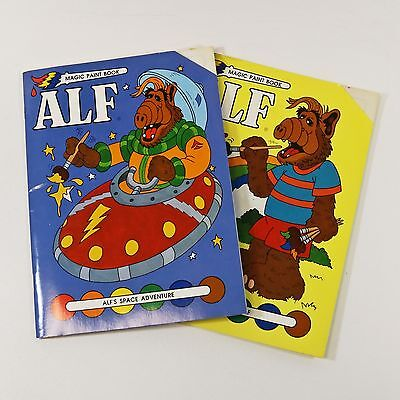 Pair of Vintage Alf Magic Paint with Water Books, 1988 - Unused, TV Character
