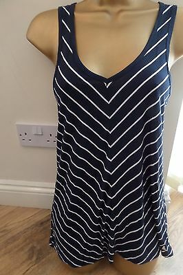 Musto Ladies Lovely Floaty Summer T Shirt Size 10 - Navy - Brand New! Bargain!
