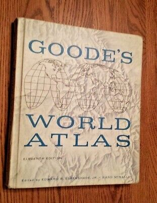 GOODE'S World Atlas   1960s Rand McNally