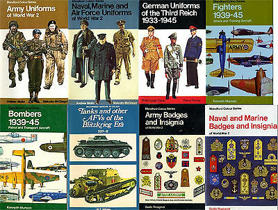 WW2 - uniforms, badges, insignias, weapons, transportation- 13 color books pdf