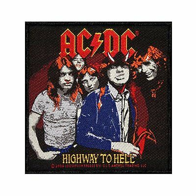 Ac/dc - Highway To Hell - Woven Patch - Brand New - Music Band 1902