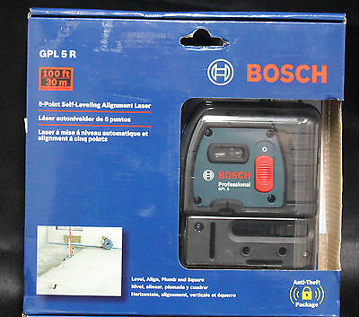 Bosch 5-Point Self-Leveling Alignment Laser GPL5R - NEW!