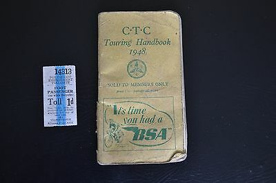 Cyclists' Touring Club (C.T.C) Touring Handbook 1948 - Vintage Cycling Booklet