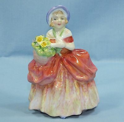 Royal Doulton Hand Made Cissie Lady Figurine Hn 1809 Carrying Flowers
