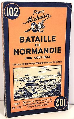 Carte Michelin N°102 Bataille Normandie D.day 1944 2 W.w. Omaha Gold Juno Beach