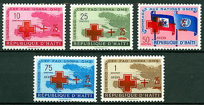 Haiti 1959, Red Cross, Medical, Health, Welfare, UN, Surcharge, Maps, MNH 3859