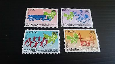 Zambia Sg 617-620 10Th Anniv Of Southern African Mnh