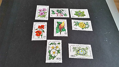 Turkish Cyprus 1981 Sg 109-116 Flowers. Mnh