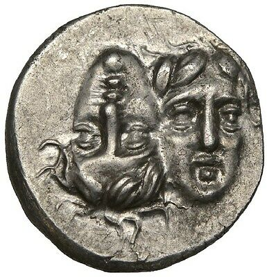 350 BC EF Istros Silver Drachm LCGS 60 Hammered Coin.