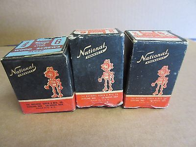 Vintage National Screw Products NAT ROBOT Mascot Screw Box Lot of 3