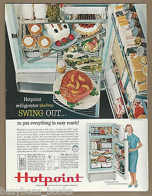 1959 GE Hotpoint Refrigerator advertisement, cool swing-out shelves large advert