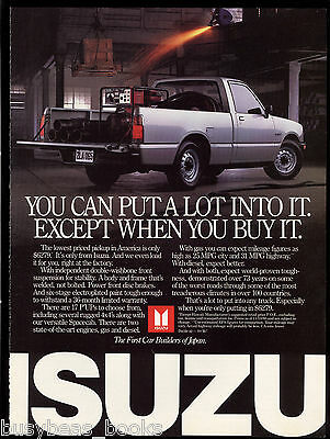 1987 ISUZU Pickup advertisement, Isuzu P'UP pickup truck