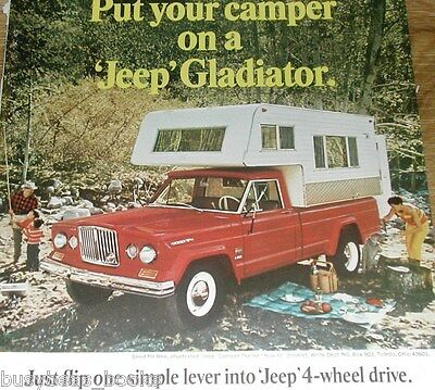 1966 Jeep Gladiator advertisement page, Kaiser Jeep Pick-up Jeep with camper