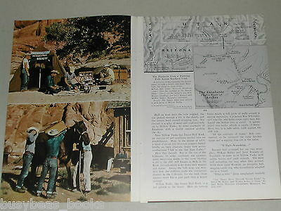 1955 magazine article Escalante River Sandstone Arches, Utah, color photos