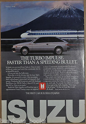 1986 ISUZU IMPULSE advertisement, Shinkansen High Speed Train Japan Turbo Impuse