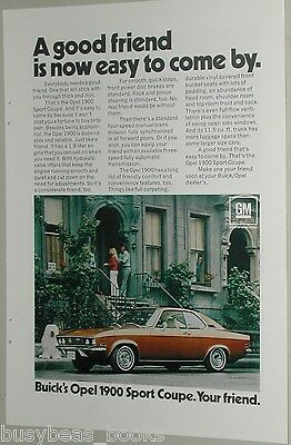 1971 Buick ad, Buick Opel 1900 Sport Coupe