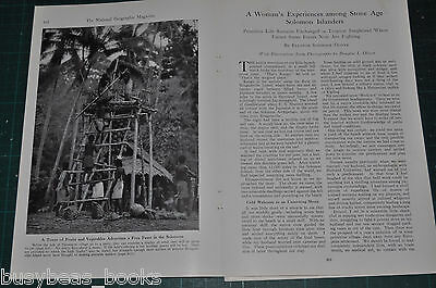 1942 SOLOMON ISLANDS magazine article, Natives pre-WWII, a visiting woman's view