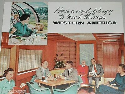 1958 Union Pacific ad, Domeliner, Redwood Lounge