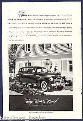 1941 BUICK LIMITED advertisement, photo of large Buick Limited sedan