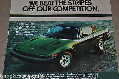 1977 TRIUMPH TR-7 advertisement, Triumph TR 7 Victory Edition