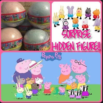 Peppa Pig George Surprise Hidden Figure Inside Candy Floss XL Bath bomb Gift