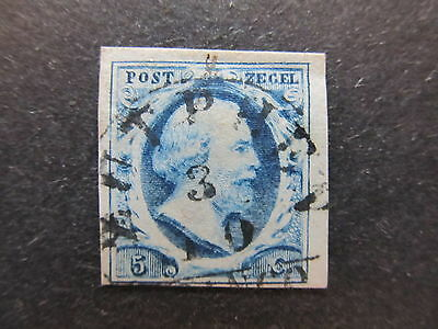 A4P48 Netherlands 1852 5c used #1