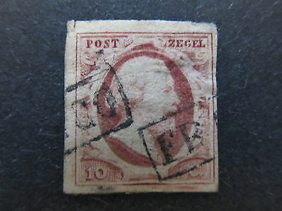A4P48 Netherlands 1852 10c used #2