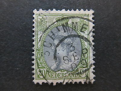 A4P49 Netherlands 1898-1924 20c used #100