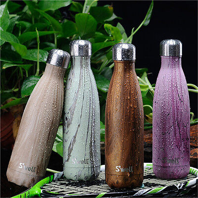 500ML Sports Water Bottle Stainless Steel Flask Vacuum Insulated Creative Cups