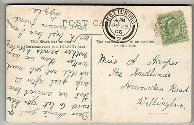 Double Circle Postmark - Kettering - 1906 - KEVII - PC German Castle