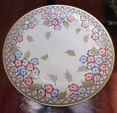 Bursley Ware Charlotte Rhead MultiColor Floral Charger Plaque English Faience