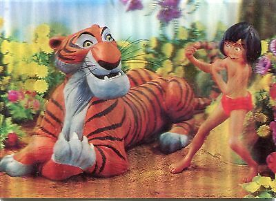 Disney Lenticular 3-D Postcard Jungle Book Vintage