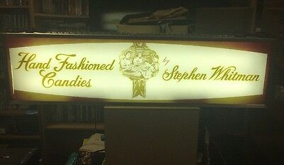 Vtg. 2 Sided Light Up Sign Stephen Whitman Hand Fashion Candies. Works