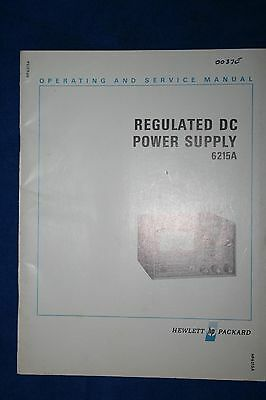 Hp Model6215A  Operating And Service Manual With Schematics