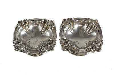 Pair of Tiffany & Co. Makers Soldered Silver Footed Open Salt Cellars