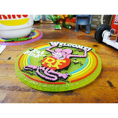 Rat fink Rubber Coaster Green monster RF Ed Roth hot rod japan table