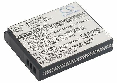 Rechargeable Battery Cell For CE UK Stock PANASONIC DMW-BCM13E 950 mAh
