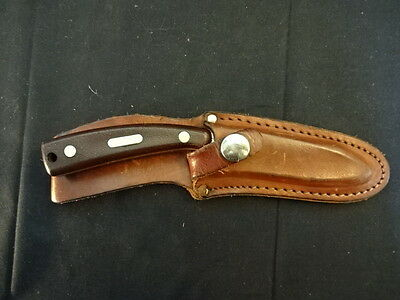 Schrade USA 158 Old Timer Skinner/Hunter Fixed Blade Knife & Leather Sheath