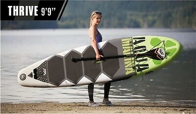"Inflatable Stand Up Paddle Board, Aqua Marina Thrive 6"" Thick 9'9"", New for 2017"