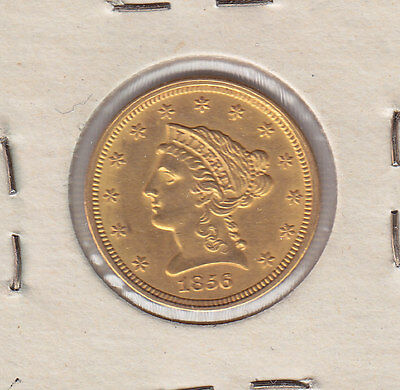 1856 Gold $2 1/2 Liberty Head Quarter Eagle - Nice Condition!