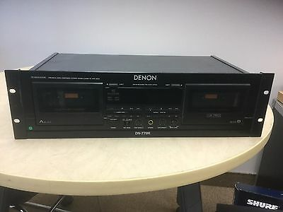 Denon DN770R Professional Series Dual Cassette Deck Variable Pitch -rack Mount