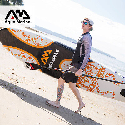 "Inflatable Stand Up Paddle Board, Aqua Marina, Magma 6"" Thick 10'10""New for 2017"
