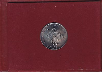 "1958 Gem UNC KM-57 Vatican City ""One Year Type"" 100,000 Minted 500 Lire w Holder"