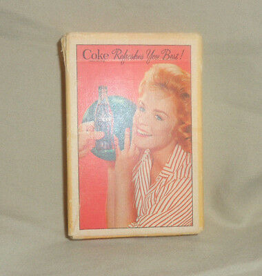 """Coca Cola """"Coke Refreshes You Best"""" 1961 Deck Of Cards Good Condition w jokers"""