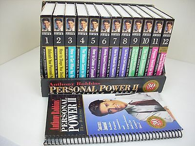 Anthony Tony Robbins Personal Power II The Driving Force 30 Day 24 Cassette Set