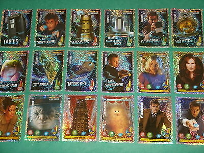 Doctor Who Alien Armies Trading Card Game: Rare Glitter Foil Chase Cards G1-G40
